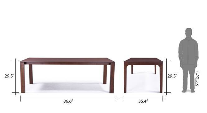 Arco leon 8 seater dining table set beige 11