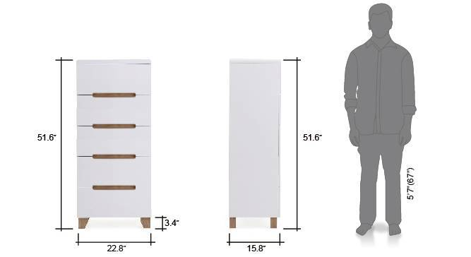 Oslo tall chest of drawer white 9