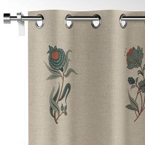 """Calico Curtains - Set Of 2 (52""""x84"""" Curtain Size, Lone Flower Pattern) by Urban Ladder"""