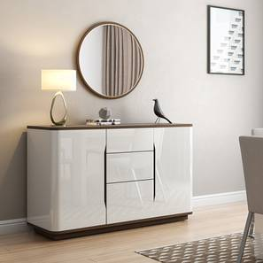 Baltoro High Gloss Sideboard (White Finish) by Urban Ladder