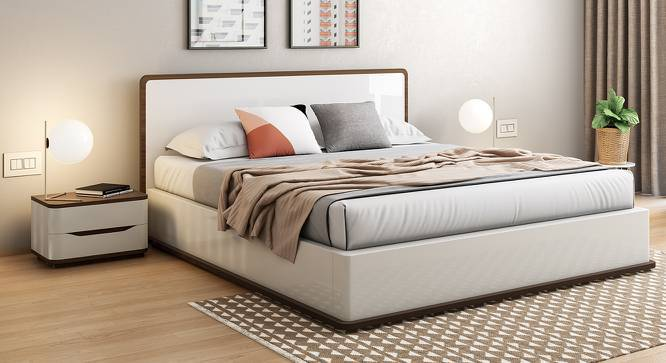 Baltoro High Gloss Hydraulic Storage Essential Bedroom Set (King Bed Size, White Finish) by Urban Ladder