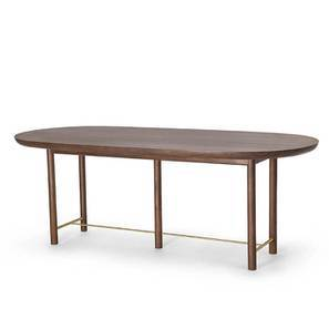 Mej Six Seater Dining Table (Teak Finish) by Urban Ladder