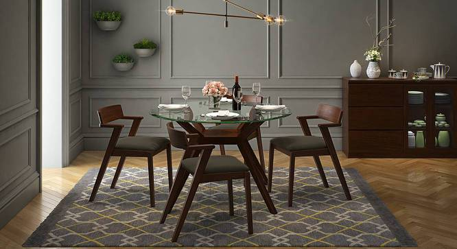 Thomson 4 Seater Round Gl Top Dining