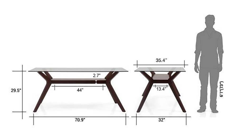 Wesley dalla 6 seater dining table set beige 7