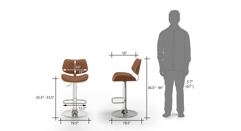 Colin bar stool chestnut brown 9