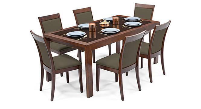 Vanalen 6 To 8 Extendable Dalla 6 Seater Glass Top Dining Table