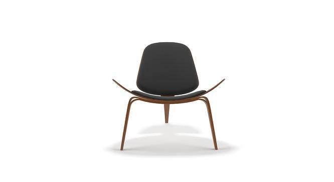 Wegner Shell Chair Replica (Black) by Urban Ladder