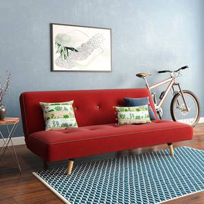 Zehnloch Sofa Cum Bed (Red) by Urban Ladder