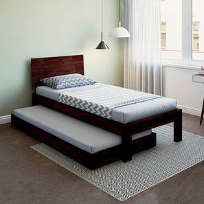 Boston Single Bed (Mahogany Finish, With Trundle) by Urban Ladder