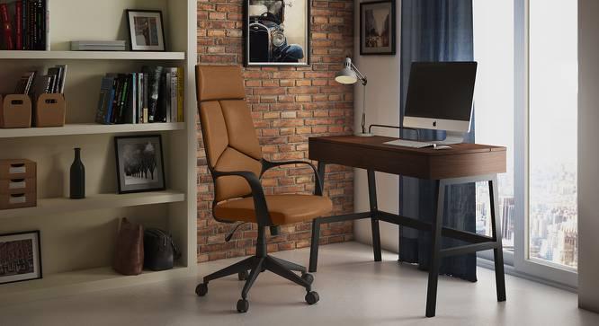 Stanton Study Chair (Chestnut Brown) by Urban Ladder
