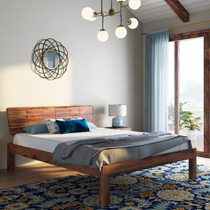 Marieta Bed (Teak Finish, King Bed Size) by Urban Ladder