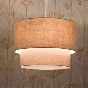 Halo Double Pendant Light (Natural Linen) by Urban Ladder