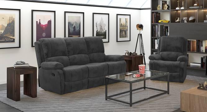 Tribbiani Three Seater Recliner Sofa (Grey) by Urban Ladder