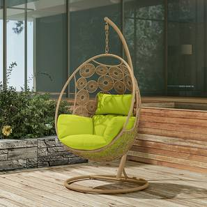 Kyodo Swing Chair With Stand (Green) by Urban Ladder