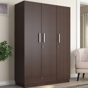 Bocado Wardrobe (Dark Walnut Finish, Three Door) by Urban Ladder