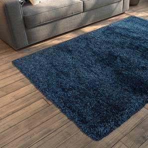 "Linton Shaggy Rug (Blue, 60"" x 36"" Carpet Size) by Urban Ladder"