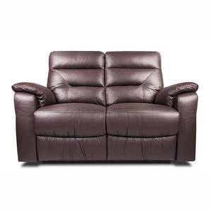 Calvin Motorized 2 Seater Leather Recliner (Chocolate Italian Leather) by Urban Ladder