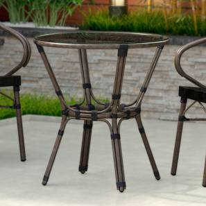 Cirali Patio Table (Black) by Urban Ladder