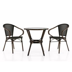 Cirali Patio Table Chair Set Black By Urban Ladder