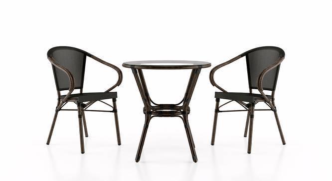 Cirali Patio Table & Chair Set (Black) by Urban Ladder