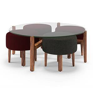 Cayman Coffee Table Set (Teak Finish) by Urban Ladder