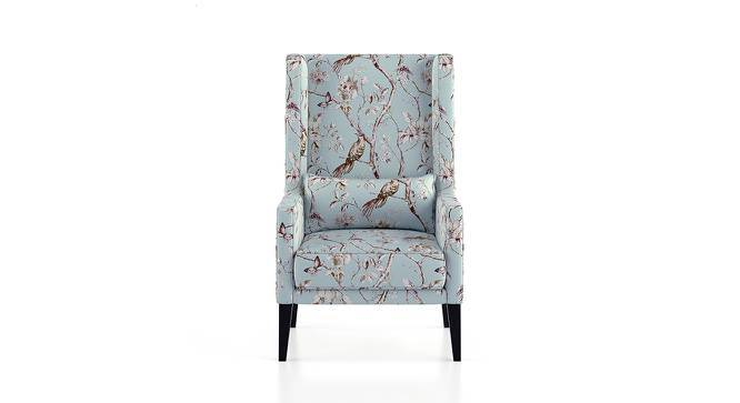 Morgen Wing Chair & Ottoman (Blue Nightingale) by Urban Ladder