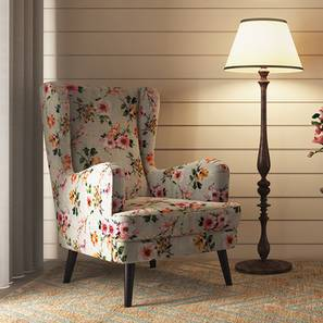 Genoa Wing Chair (Floral) by Urban Ladder