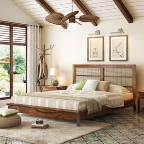 Fujiwara Bed (Teak Finish, Queen Bed Size) by Urban Ladder