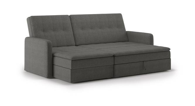Peckham Sectional Sofa Cum Bed with Ottoman (Grey) by Urban Ladder