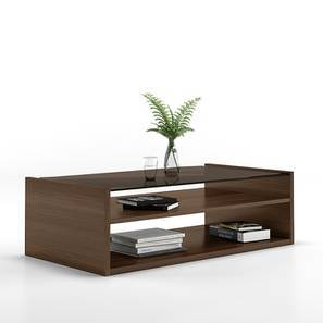 Alita Storage Coffee Table Walnut Finish Open Shelf Configuration By Urban Ladder