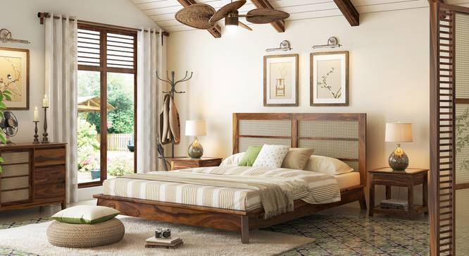 Fujiwara Bed (Teak Finish, Queen Bed Size) by Urban Ladder