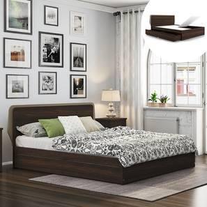 Cavinti Storage Bed (Queen Bed Size, Dark Walnut Finish, Drawer & Box Storage Type) by Urban Ladder