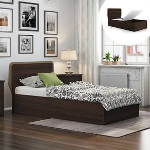 Cavinti Storage Single Bed (Queen Bed Size, Dark Walnut Finish, Box Storage Type) by Urban Ladder
