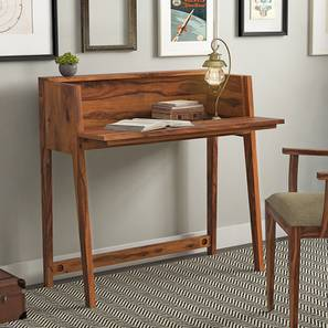 Rowling Compact Desk (Teak Finish) by Urban Ladder