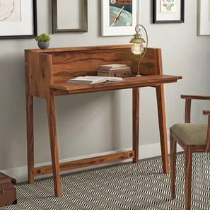 Rowling Compact Desk (Teak Finish) by Urban Ladder