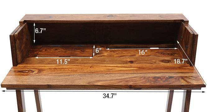 Rowling compact desk teak 51