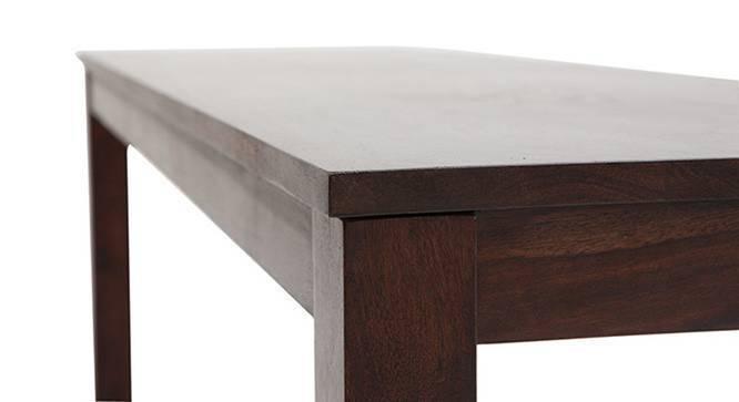 Brighton - Large Oribi 6 Seater Dining Table Set (With Bench) (Mahogany Finish, Burnt Orange) by Urban Ladder