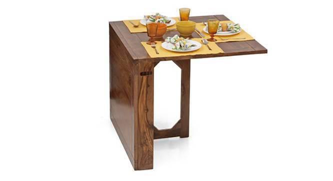 Danton 3 to 6 Folding Dining Table (Teak Finish) by Urban Ladder