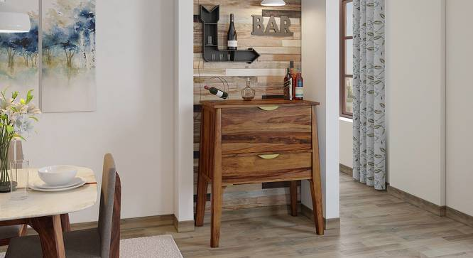 Swanson Bar Cabinet (Teak Finish) by Urban Ladder