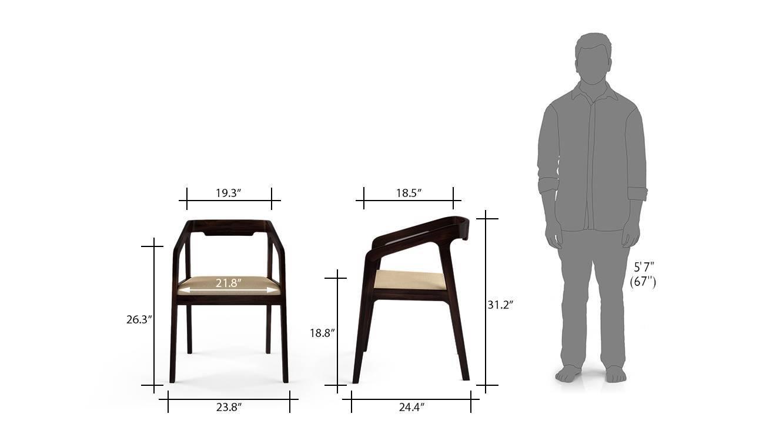 Alphonse chair mahogany wheatbrown 6