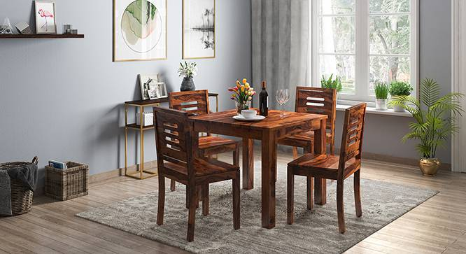 Capra Dining Chairs - Set of Two (Teak Finish, Yes) by Urban Ladder
