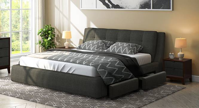 Stanhope Upholstered Storage Bed King Size Charcoal Grey Yes By Urban