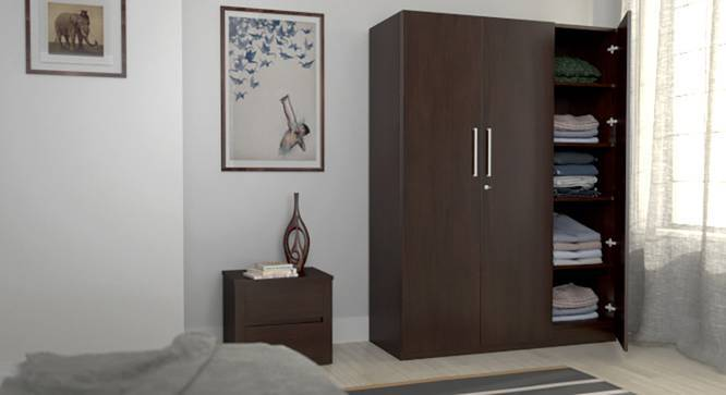 Domenico Wardrobe (Three Door, No Mirror, Without Drawer Configuration, Yes) by Urban Ladder