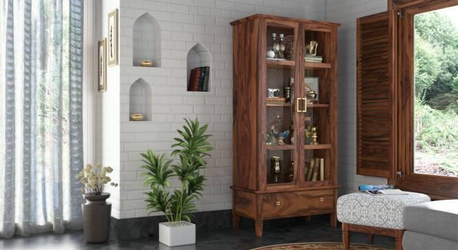 Malabar Display Cabinet (Teak Finish, Yes) by Urban Ladder