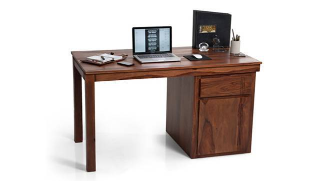 Bradbury Desk (Teak Finish, Large Size, Yes) by Urban Ladder