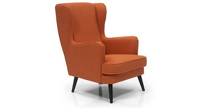 Genoa Wing Chair (Amber, Yes) by Urban Ladder