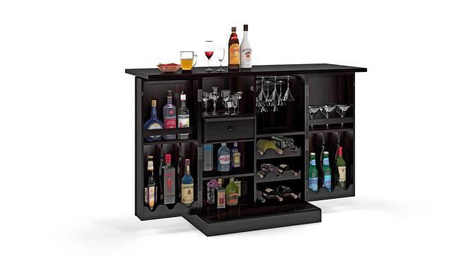 Caledonia Bar Cabinet (Mahogany Finish, Yes) by Urban Ladder