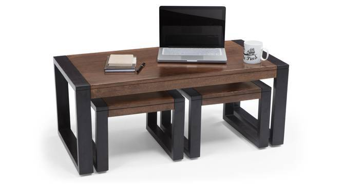 Altura Coffee Table With Nested Stools Urban Ladder