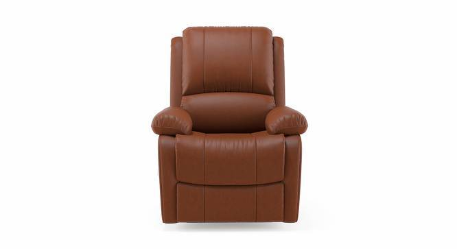 Tribbiani Recliner (Tan Leatherette, Yes) by Urban Ladder