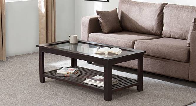 Claire Coffee Table (Mahogany Finish, Large Size, Yes) by Urban Ladder
